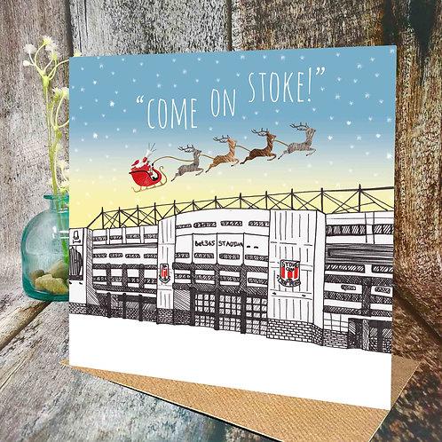 Come on Stoke! Christmas Card