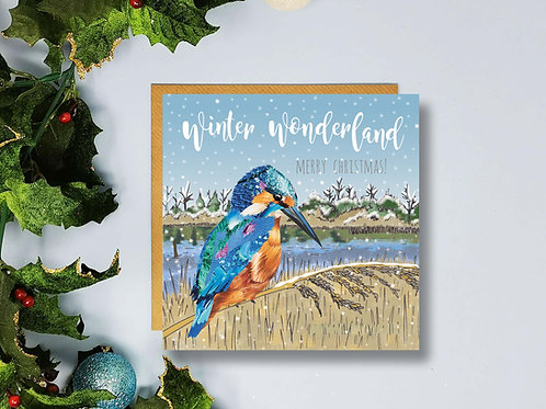 Kingfisher Christmas Card