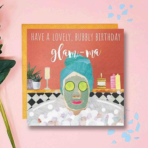 Glam-ma Birthday Card
