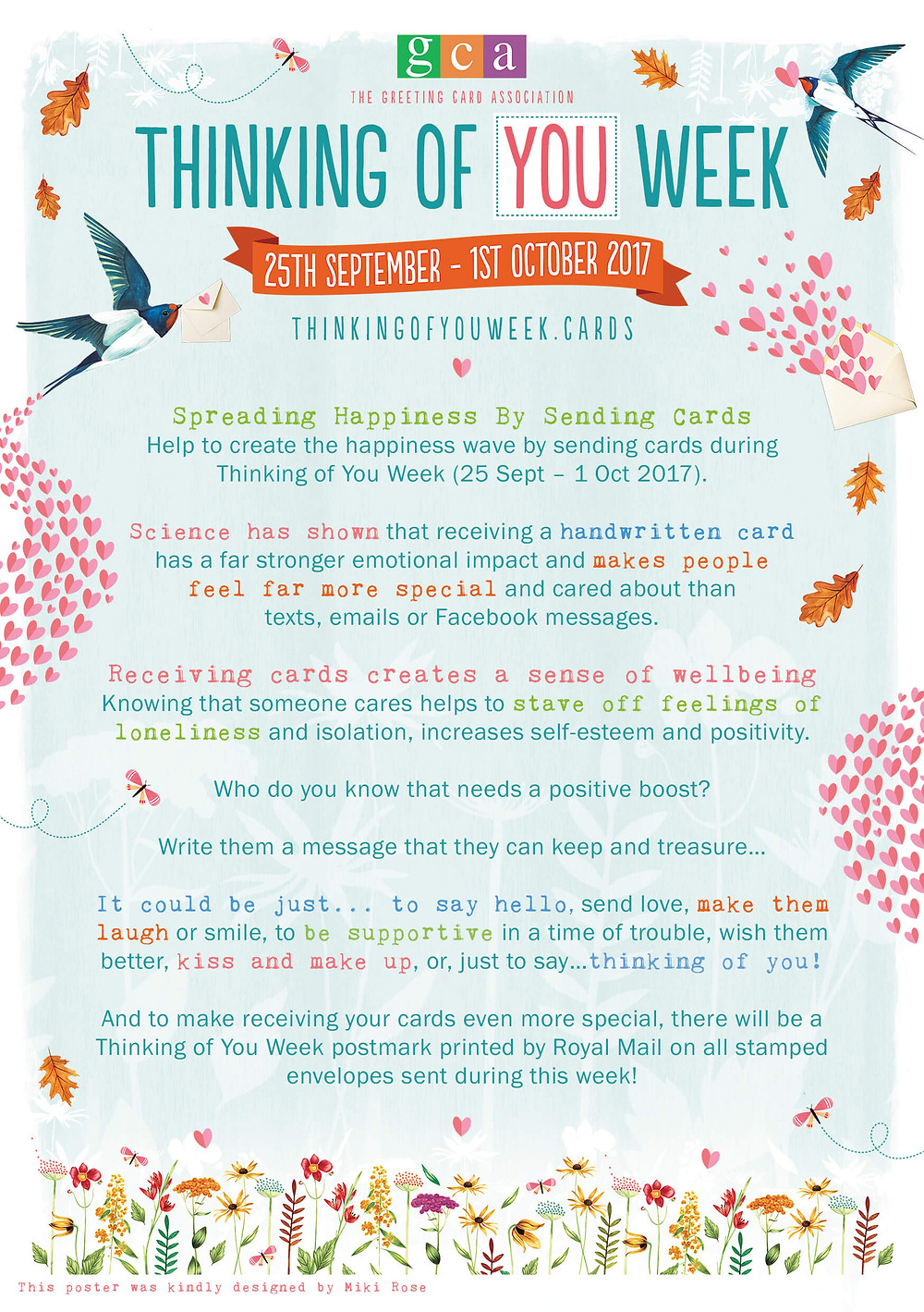 Thinking Of You Week Flyer - Send a Card, Deliver a Smile