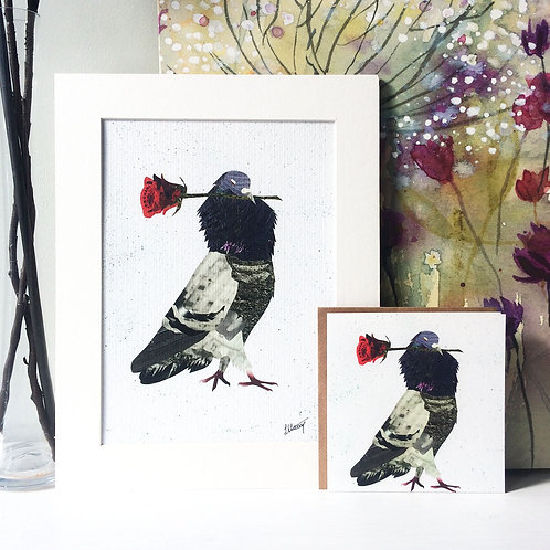 Be My Bird Mounted Print