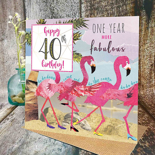 40th Birthday Flamingo