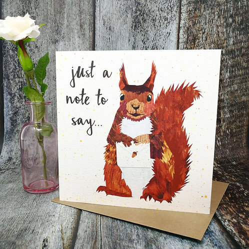 Just a Note Red Squirrel