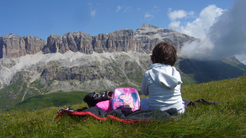 Passeggiata vista Dolomiti