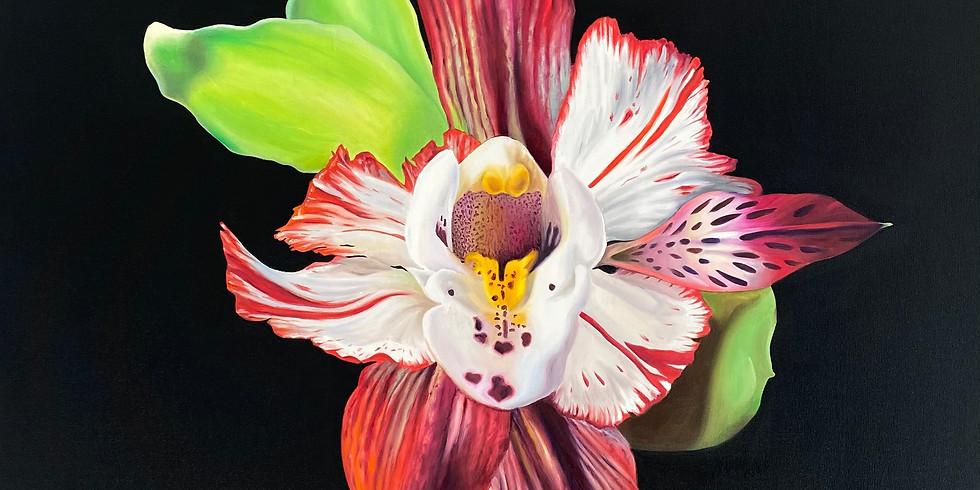 BRANDY KRAFT konst i galleriet. 'Hybrid Flowers'