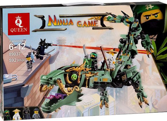 Конструктор Queen Механический Дракон Зелёного Ниндзя (Артикул 89037)