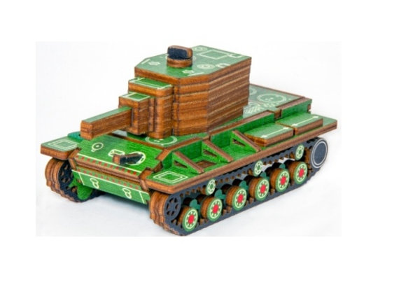 Цветная модель для сборки танк КВ-2 (арт. 020106)