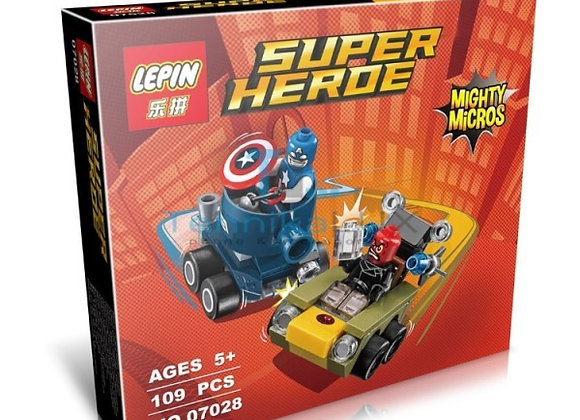 Конструктор LEPIN Капитан Америка Против Красного Черепа (Артикул: 07028)