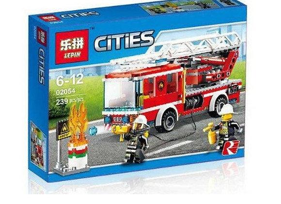 Конструктор LEPIN Пожарный автомобиль с лестницей(Артикул 02054)