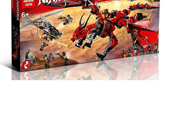 Конструктор LEPIN Красный дракон (Артикул: 06081)
