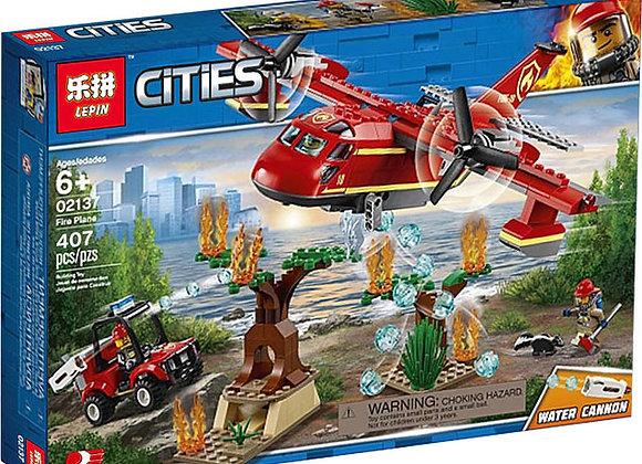 Конструктор LEPIN Пожарный самолет (Артикул: 02137)