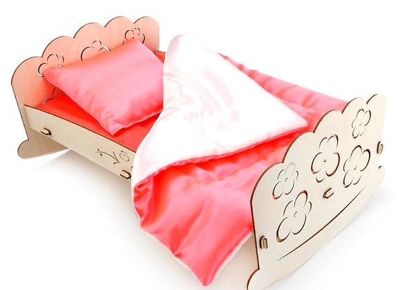 """Конструктор """"Кроватка для пупсов"""" со спальным набором"""