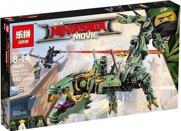 Конструктор LEPIN Механический дракон Зелёного ниндзя(Артикул 06051)