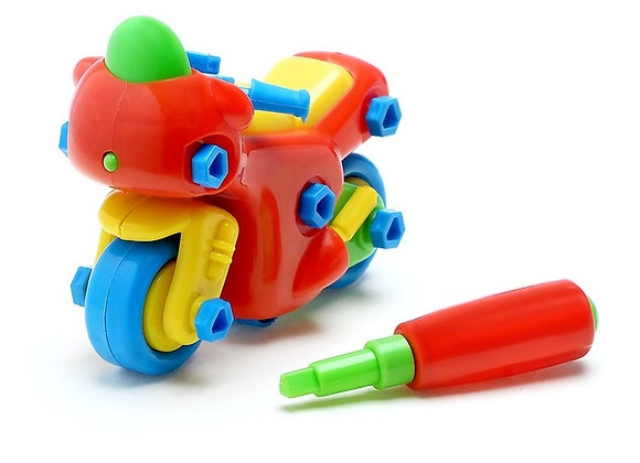 Конструктор для малышей Мотоцикл 33 детали, цвета МИКС (арт.1005910)