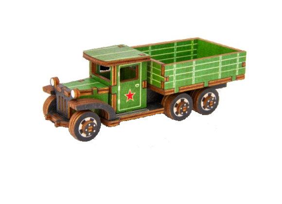 Цветная собранная модель грузовик ЗИС-5В (арт. 010304)