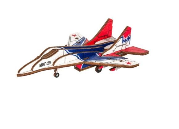 Цветная собранная модель самолёт МИГ-29 (арт. 010208)