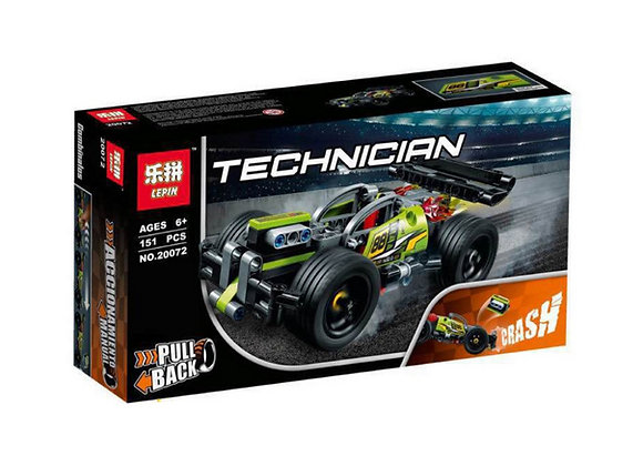 Конструктор LEPIN Зеленый гоночный автомобиль (Артикул: 20072)