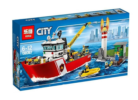 Конструктор LEPIN Пожарный катер (Артикул: 02057)