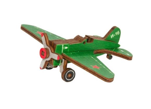 Цветная собранная модель самолёт И-16 (арт. 010205)