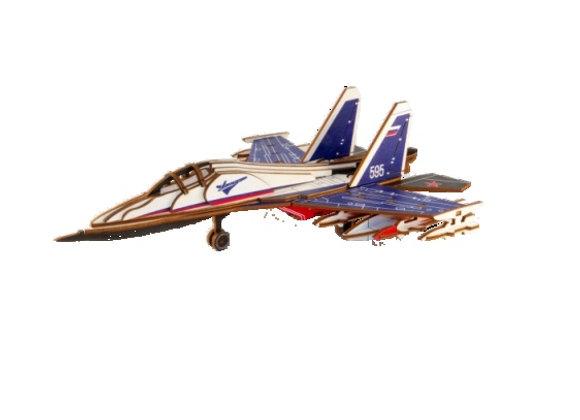 Цветная модель для сборки самолёт СУ-30 (арт. 020207)