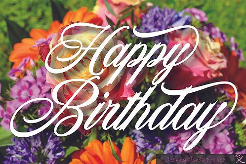 Donor Card- Birthday Flowers