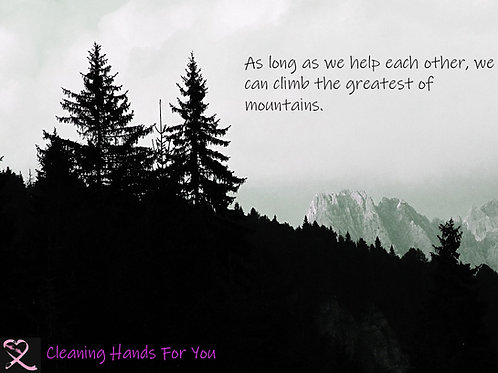 Donor Card- Mountainside Silohuette