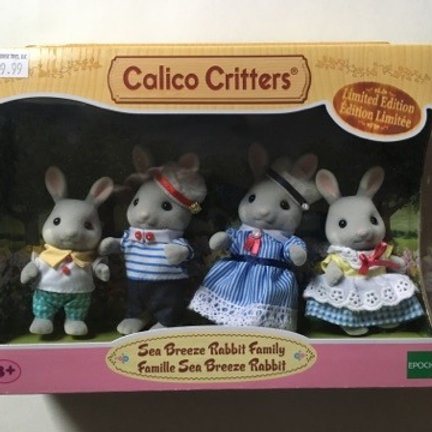 Calico Critters Sea Breeze Rabbit Family - Limited Edition