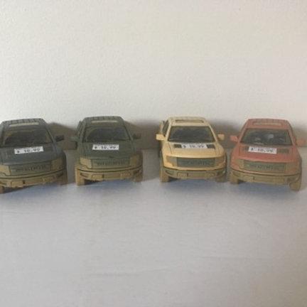 Die Cast Muddy Pick Up Trucks