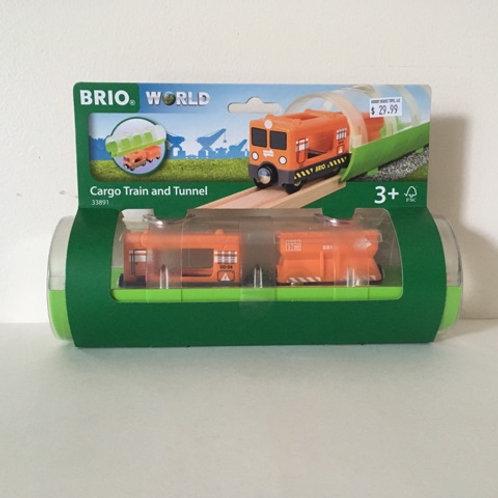 Brio Cargo Train and Tunnel #33891