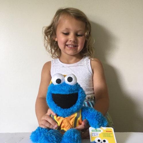 Gund Construction Worker Cookie Monster Plush