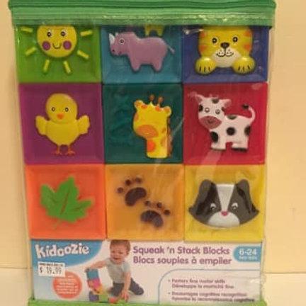 Kidoozie Squeak'n Stack Blocks