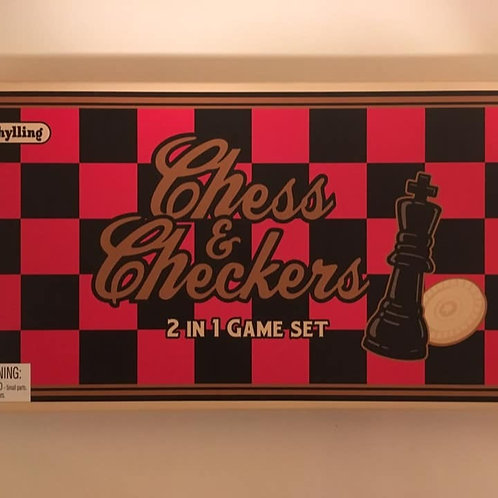 Schylling Chess & Checkers, 2 in 1 Game Set