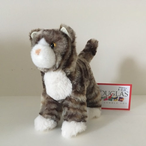Douglas Zigby Gray Stripe Cat #4024
