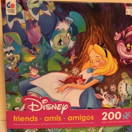Disney 200 pc Puzzle, Friends, Alice in Wonderland