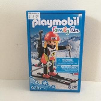 Playmobil Skier Scene