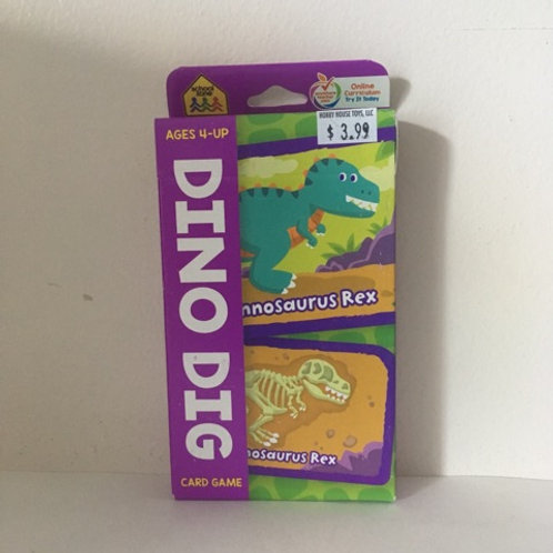 School Zone Dino Dig Card Game