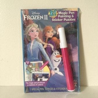 Lee Magic Pen Painting & Sticker Puzzles - Frozen 2