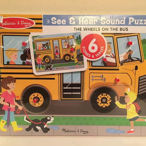Melissa & Doug See & Hear Sound Puzzle - The Wheels on the Bus