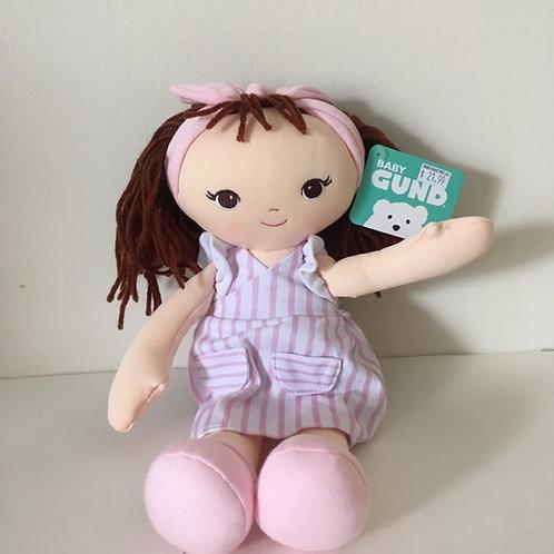Gund Baby Pink Stripe Doll