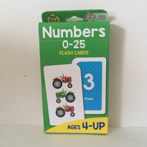 School Zone Numbers 0 - 25 Flash Cards