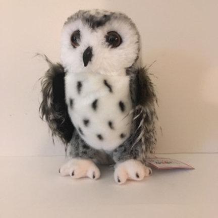 Douglas Crescent Silver Owl Plush