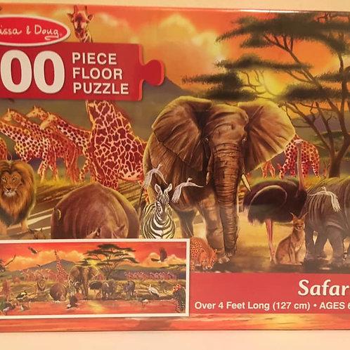 Melissa & Doug 100 pc Floor Puzzle, Safari