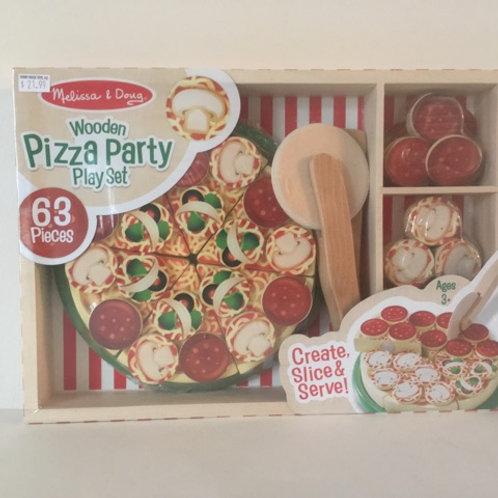 Melissa & Doug Wooden Pizza Party Play Set
