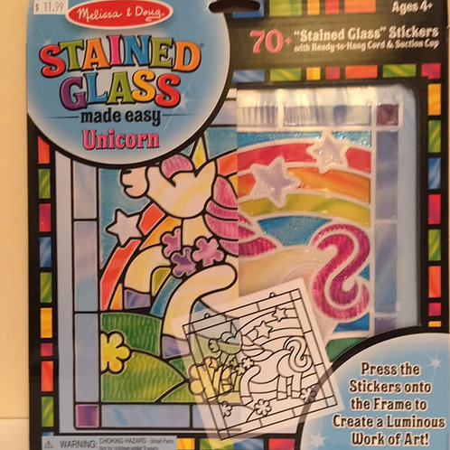 Melissa & Doug Stained Glass Stickers Unicorn