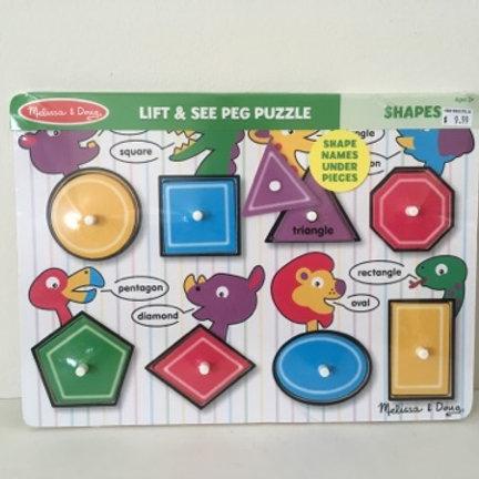 Melissa & Doug Lift & See Peg Puzzle - Shapes