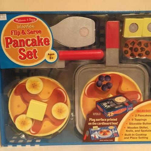 Melissa & Doug Wooden Flip & Serve Pancake Set