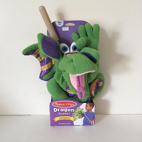 Melissa & Doug Puppets, Dragon, green and purple