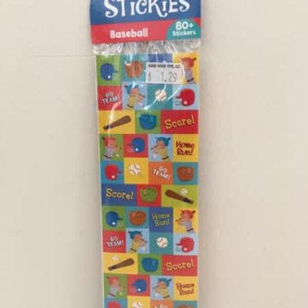 Itsy Bitsy Stickies, Baseball, 80 stickers