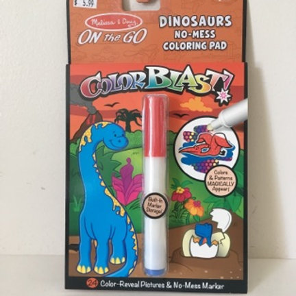 Melissa & Doug On the Go Dinosaurs Coloring Pad