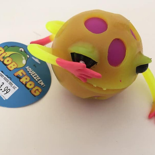 Squeeze em' BLOB FROG, yellow and pink